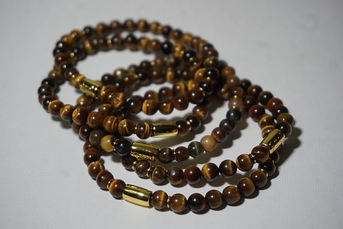 Tigers eye & 18 K gold