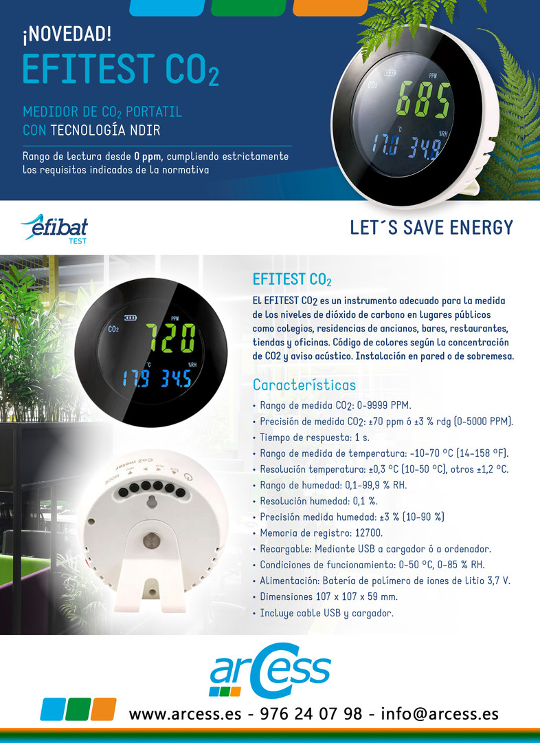 Medidor de CO2 Efitest