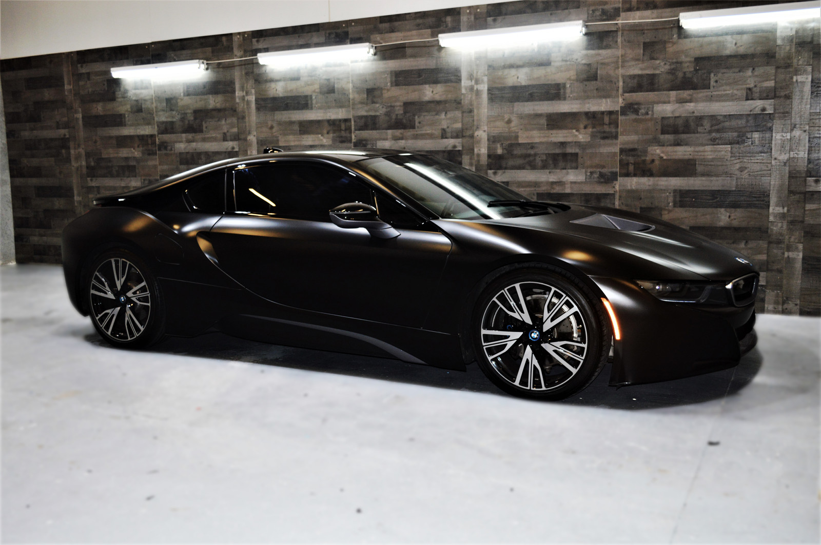 Bmw I8 Satin Black Wrap Orlando