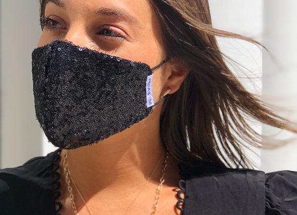 BLACK SEQUINS Mask