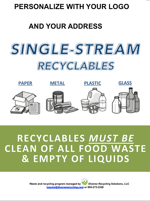 Personalized Single Stream Recycling Label