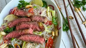 Rice noodles cu carne de vită