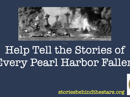 Help Tell the Stories of the Pearl Harbor Fallen
