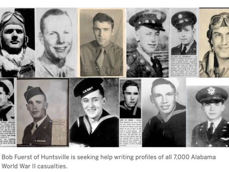 Help tell the stories of 7,000 Alabama WWII casualties