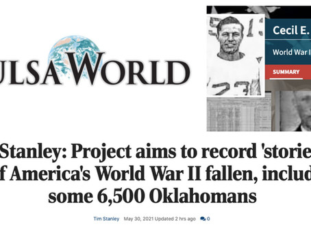 Help tell the stories of all 6,500 Oklahoma WWII fallen