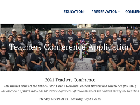 Teachers nationwide are invited to this WWII conference