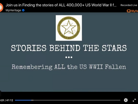 Finding All the 400,000+ US WWII Fallen Facebook Live Interview