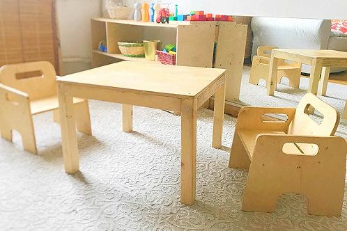 მაგიდა და სკამები