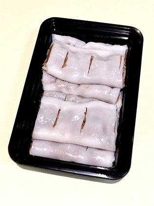 Steamed Rice Flour Rolls with Minced Beef 布拉牛肉滑腸粉