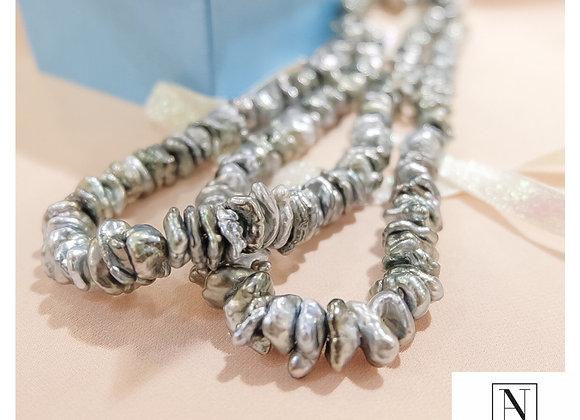 Keshi pearl short necklace