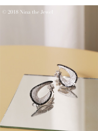 B&W Diamond Earrings
