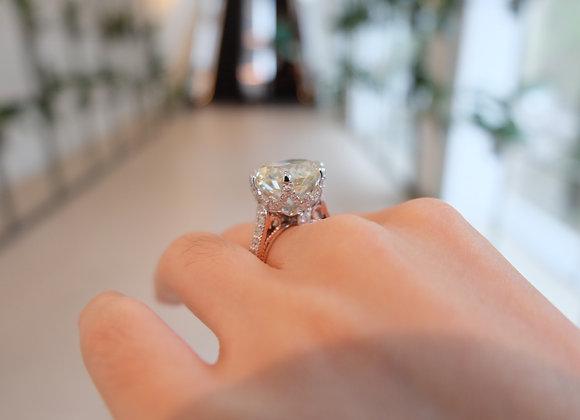 10carat princess-liked ring