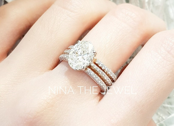 2 cts oval ring