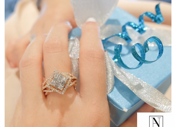 Princess Illusion two-toned ring