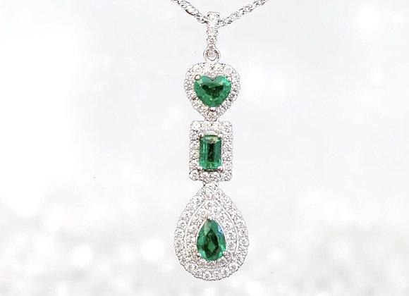 Finest Colombian Emerald Pendant