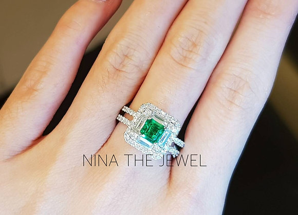 0.61ct Colombian Emerald Ring
