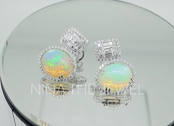 E7644 Top billing Opal Earrings