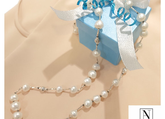 White South sea Long necklace