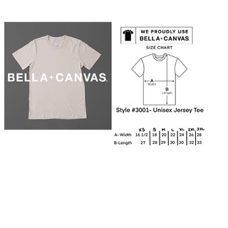 Bella and Canvas Sizing