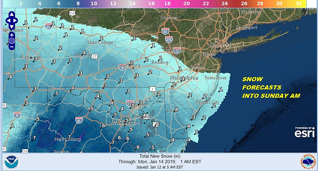 Winter Weather Advisory South Central PA, Most of Maryland ...
