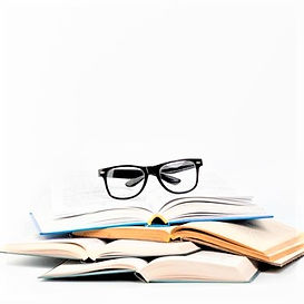 front-view-open-books-with-glasses_23-21