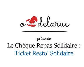 O Cœur de la Rue - Ticket Resto' Solidai