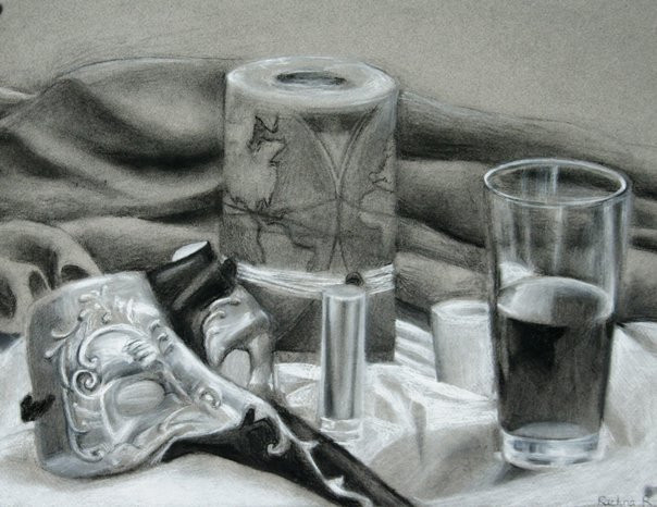 """reductive method still-life"""