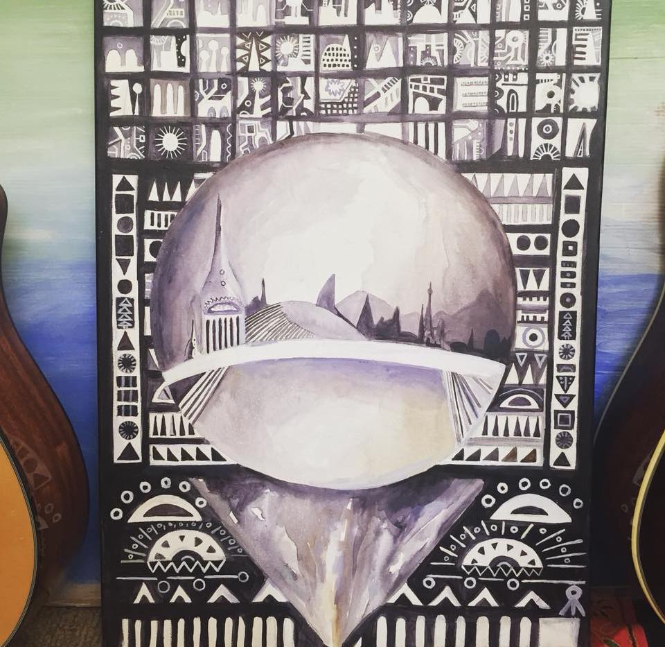 recent acrylic painting