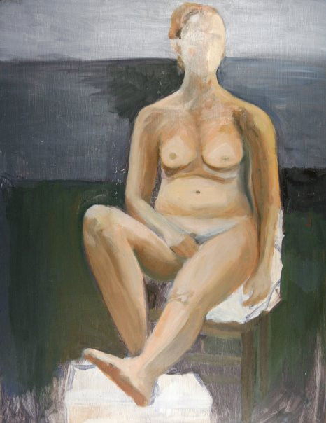 """oil paint figure study"""