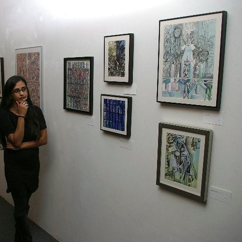 at my first art show