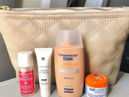 Cuidados de la piel en el avión