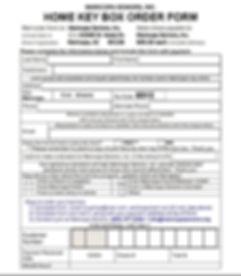 Home Key Box Order Form
