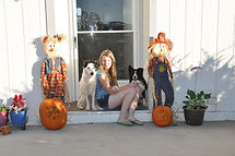 Darah with Flynn and Kismet at Twisted Acres Ranch.