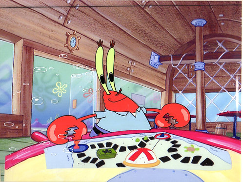 Spongebob Production Cel