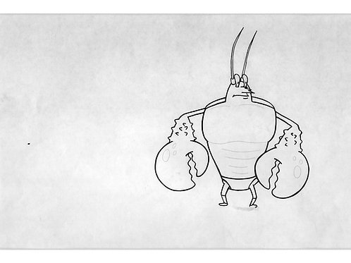 Larry The Lobster Production Drawing