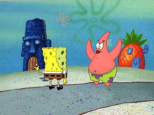 Patrick and SpongeBob Production Cel