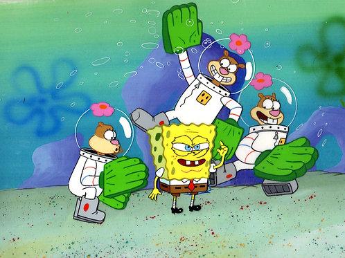 Karate Choppers : SpongeBob SquarePants Production Cel .