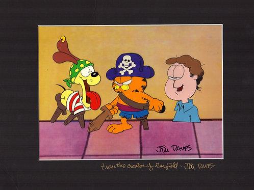 1985 Garfield Halloween Special production cel