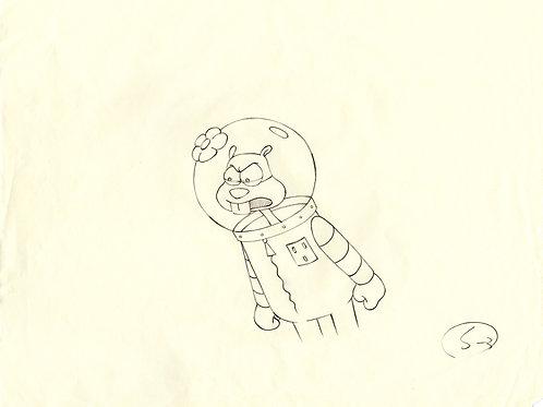 SpongeBob Production Drawing TEXAS