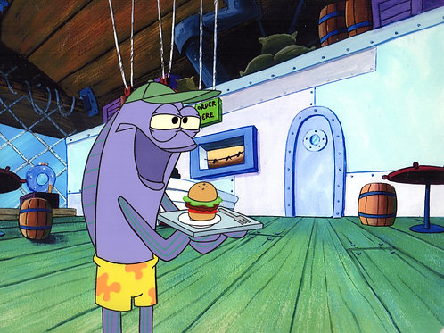 Krabby patty being served!