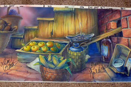 "26"" Production Background AN AMERICAN TAIL signed"