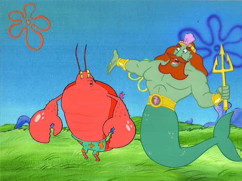 Larr and King Neptune Production Cels