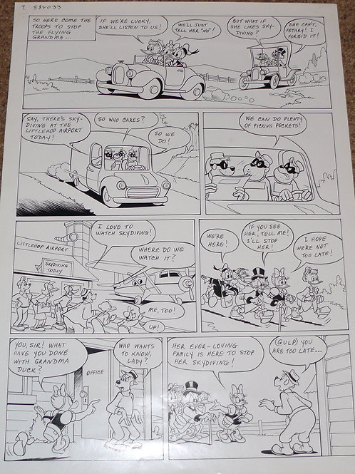 Original walt Disney Comic Book Art from the 1980s