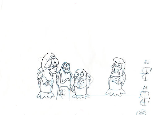 Production drawing of Pearls friends from Texas