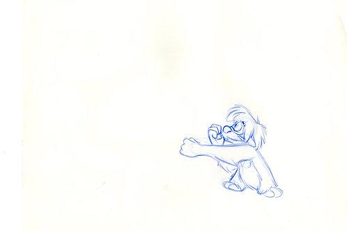 Walt Disney's BLACK CAULDRON 1985 production drawing of Gurgi