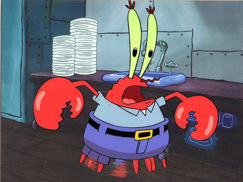 Krabs production cel from Squeaky Boots