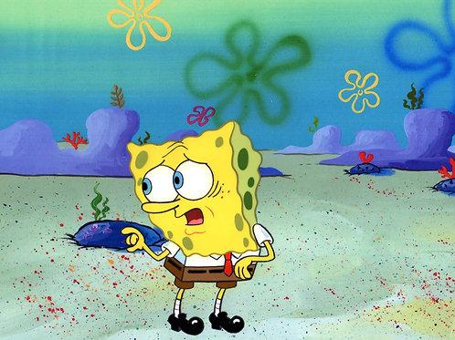 TEXAS : SpongeBob SquarePants Production Cel .