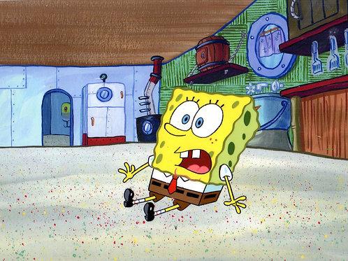 Production Cel from the first season of SpongeBob SquarePantsith