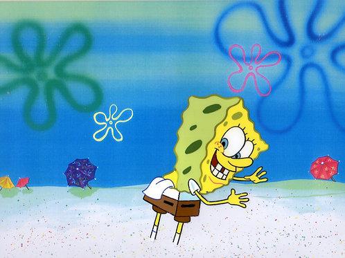 SpongeBob SquarePants Production Cel HUGE IMAGE