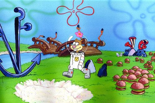 Sandy in the land of Krabbie Pattie Dreams !!!!